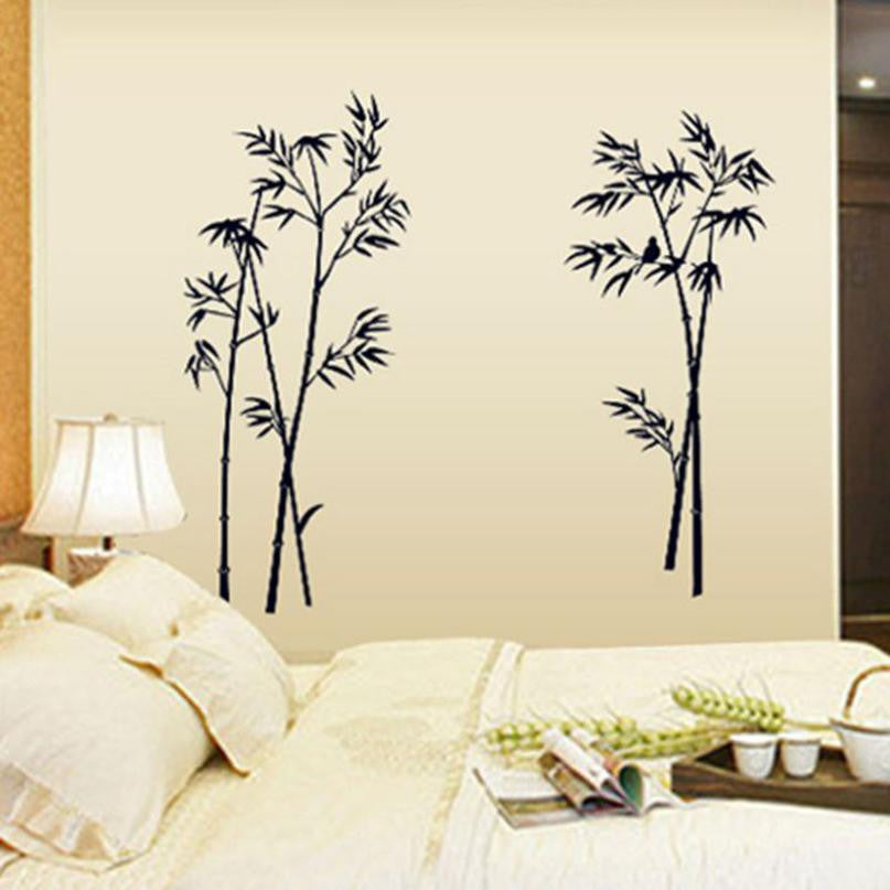 Bamboo Splash on Walls