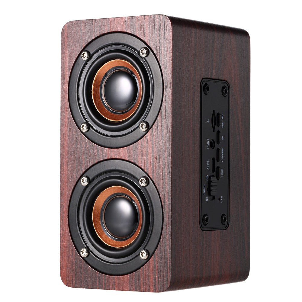 Stylin Red Wood Grain Speaker - Bluetooth