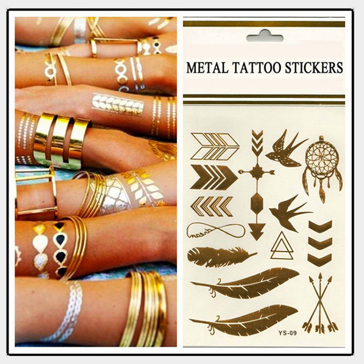 Metal Temp Tattoos