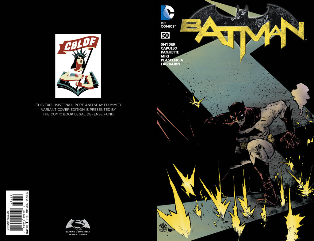 Batman #50, Paul Pope Variant, signed by Paul Pope!