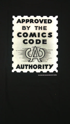 COMICS CODE AUTHORITY t-shirt! (BLACK)