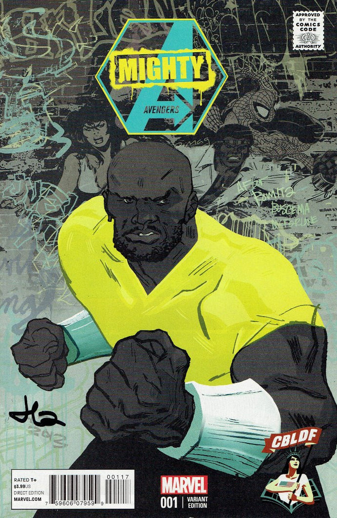 MIGHTY AVENGERS #1, CBLDF variant SIGNED by Jason Latour