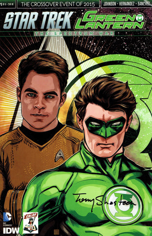 Star Trek / Green Lantern #1 CBLDF Exclusive Variant, Signed by Tony Shasteen!