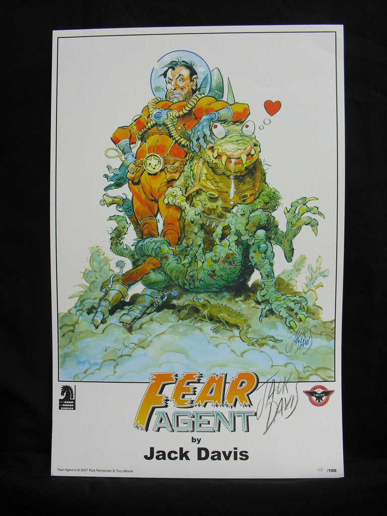 Fear Agent Print signed by Jack Davis