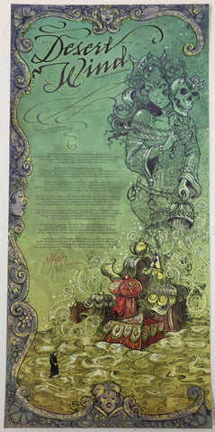 Desert Wind Print, signed by Neil Gaiman!