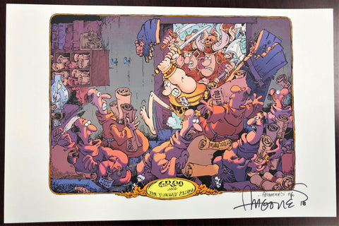 Groo & the Thought Patrol Print, signed by Sergio Aragones!