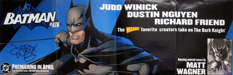BATMAN, Promotional Banner, Signed by Judd Winick!