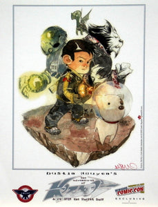 The Adventures of Kozmo & Re-Run the Rocket Dog NYCC 2009 Exclusive Print Signed by Dustin Nguyen