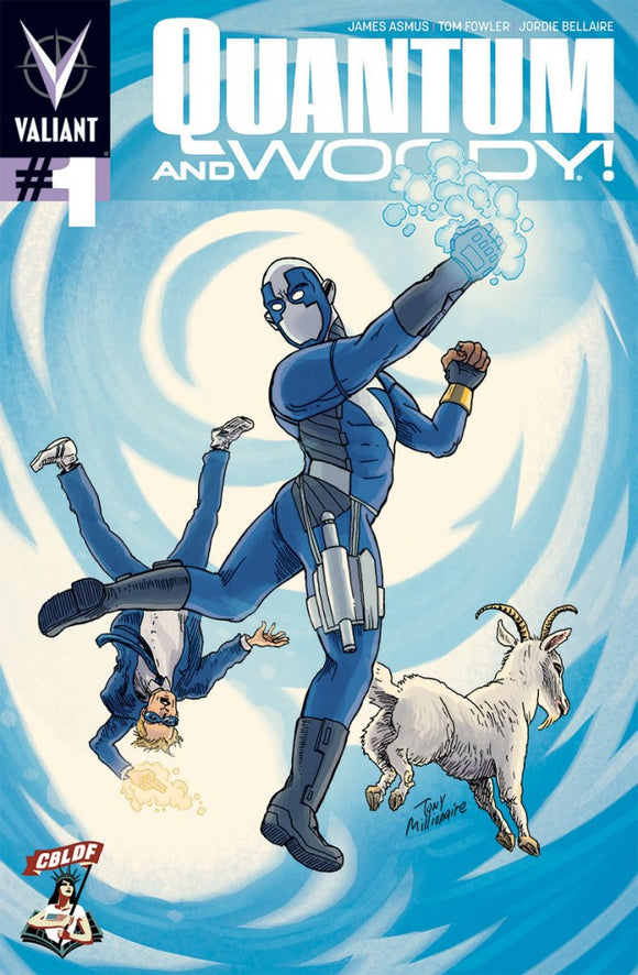 Quantum & Woody #1 Tony Millionaire CBLDF Variant, signed by James Asmus!