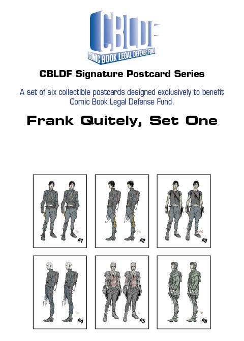 Frank Quitely Postcard Series, Set One