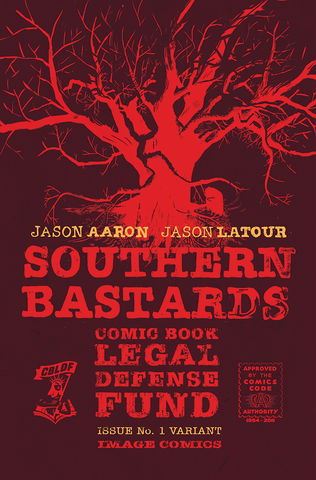Southern Bastards #1 CBLDF Variant Poster, signed by Jason Aaron & Jason Latour!
