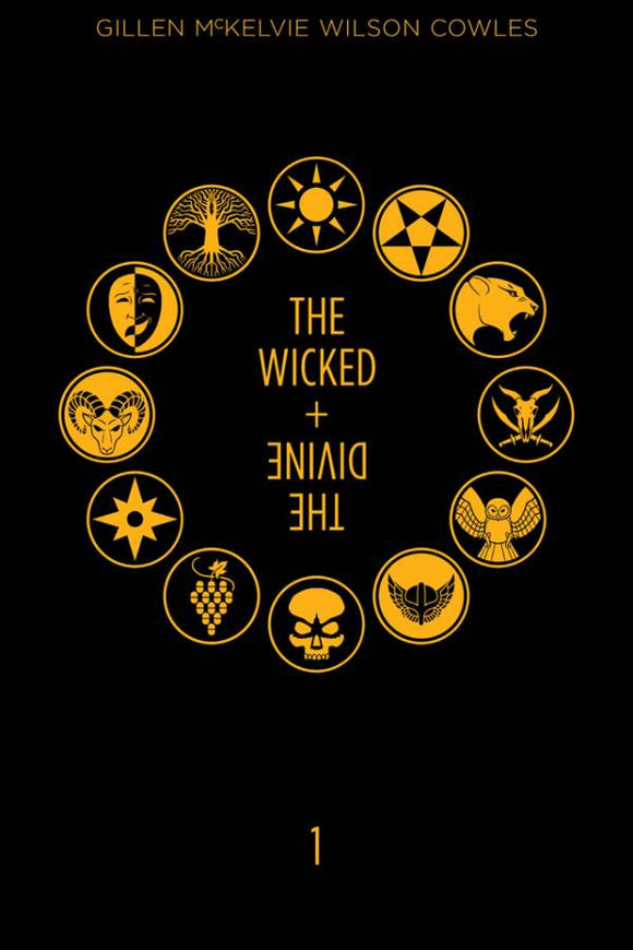 The Wicked & The Divine Year One HC, signed by Kieron Gillen & Jamie McKelvie!