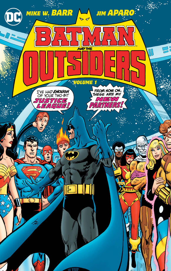 Batman & The Outsiders Vol 1 HC, Signed by Marv Wolfman