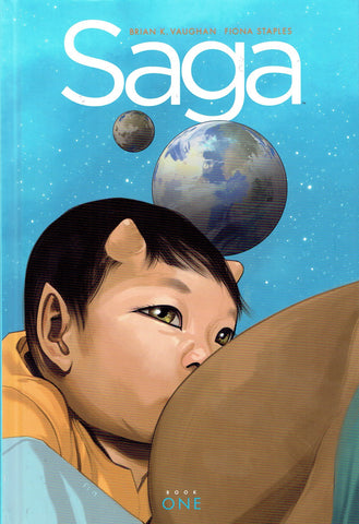 Saga Book One Deluxe Edition Hardcover, Signed by Brian K Vaughan!