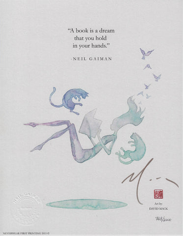 Neil Gaiman's Dream Print, signed by David Mack!