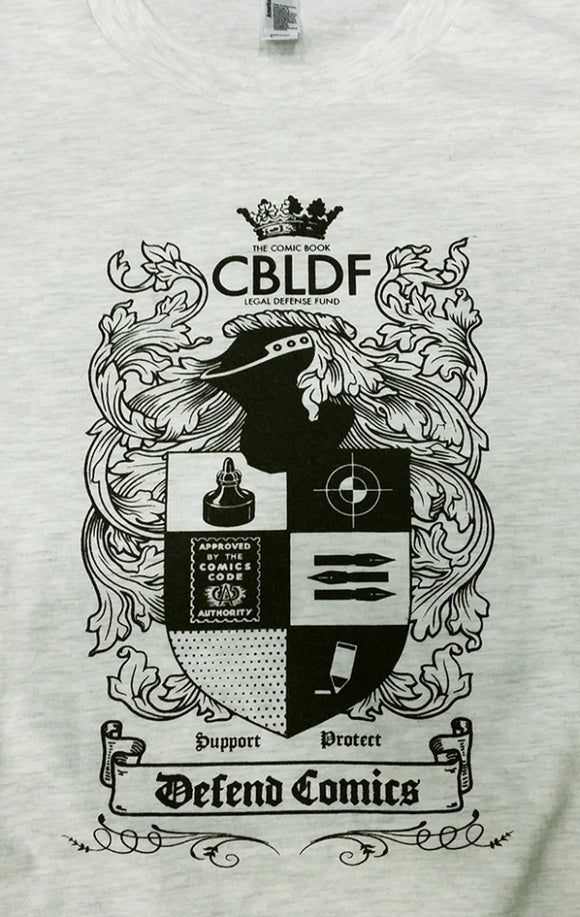 CBLDF Coat of Arms T-Shirt, Designed by Brian Wood!