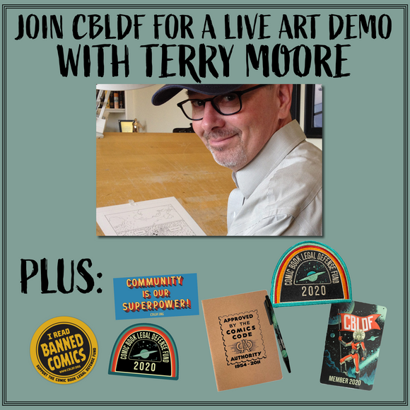 Join CBLDF for How to Draw with Terry Moore!