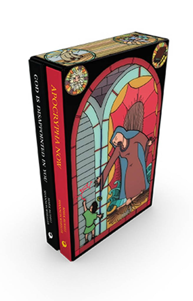 Apocrypha Now & God is Disappointed in You Slipcase, signed & sketched by Shannon Wheeler!