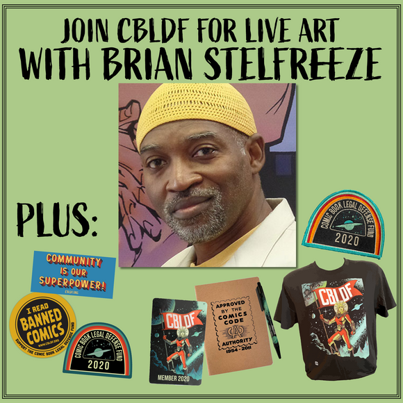 Join CBLDF for Live Art with Brian Stelfreeze!