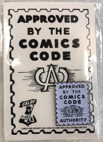 Comics Code Authority Enamel Pin