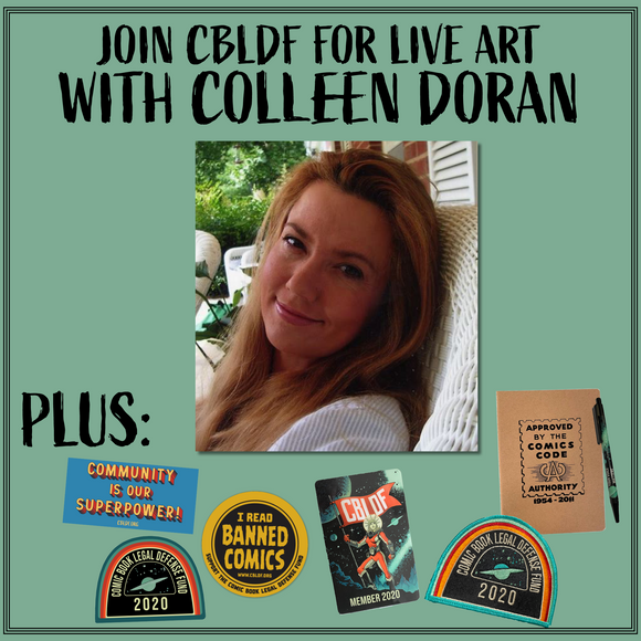 Join CBLDF for Live Art with Colleen Doran!