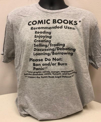 Comic Book Fact Sheet T-Shirt (Heather Grey)