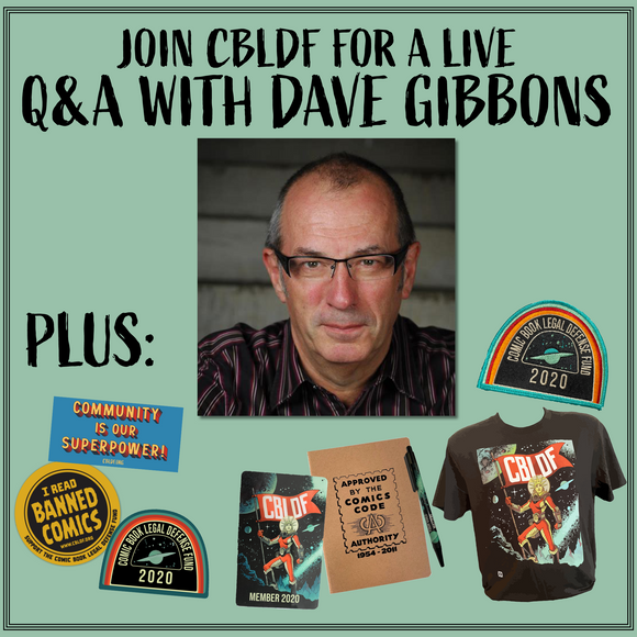 Join CBLDF for a Q&A with Dave Gibbons!