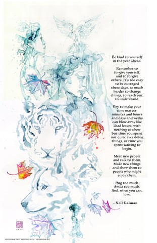 Neil Gaiman's New Year's Wish #2 Print, signed by David Mack!