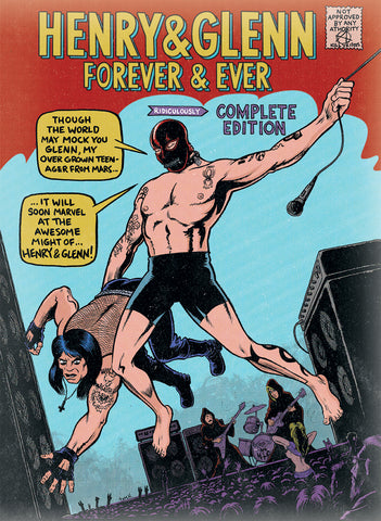 Henry & Glenn Forever & Ever HC w/ SPECIAL EDITION Dust Jacket, Signed & Sketched by Tom Neely!