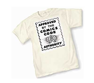 Comics Code Authority T-Shirt! (White)