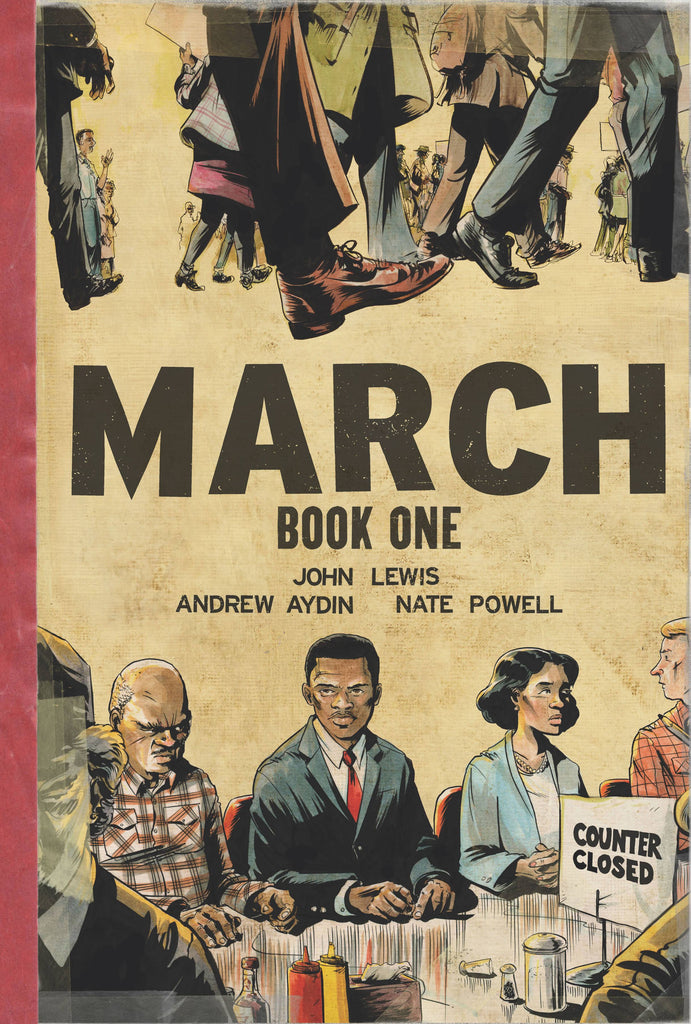 March Book One HC, signed by Andrew Aydin and Nate Powell!