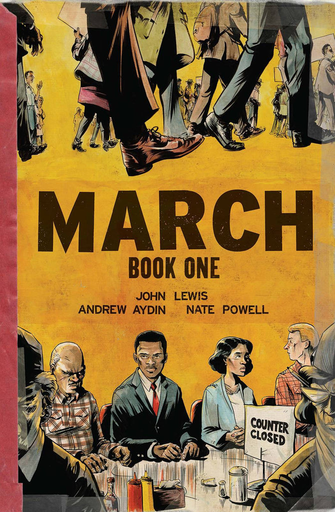 March Book One GN, signed by Andrew Aydin and Nate Powell!
