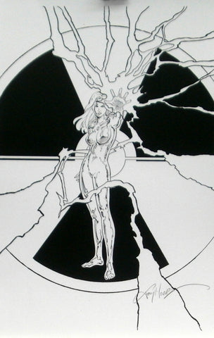 Black & White Echo Print, signed by Terry Moore!