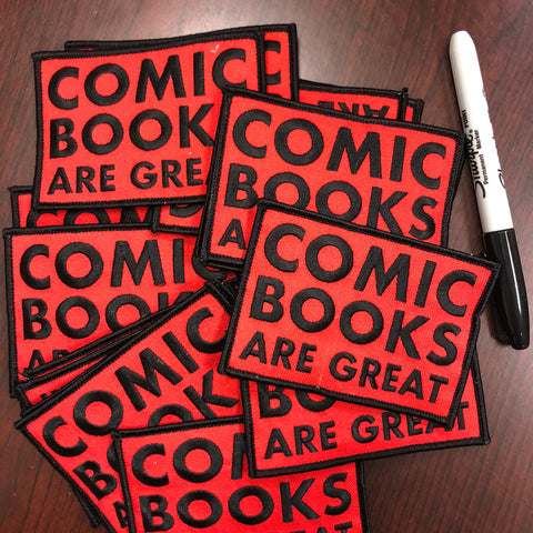Comics Are Great Embroidered Patch