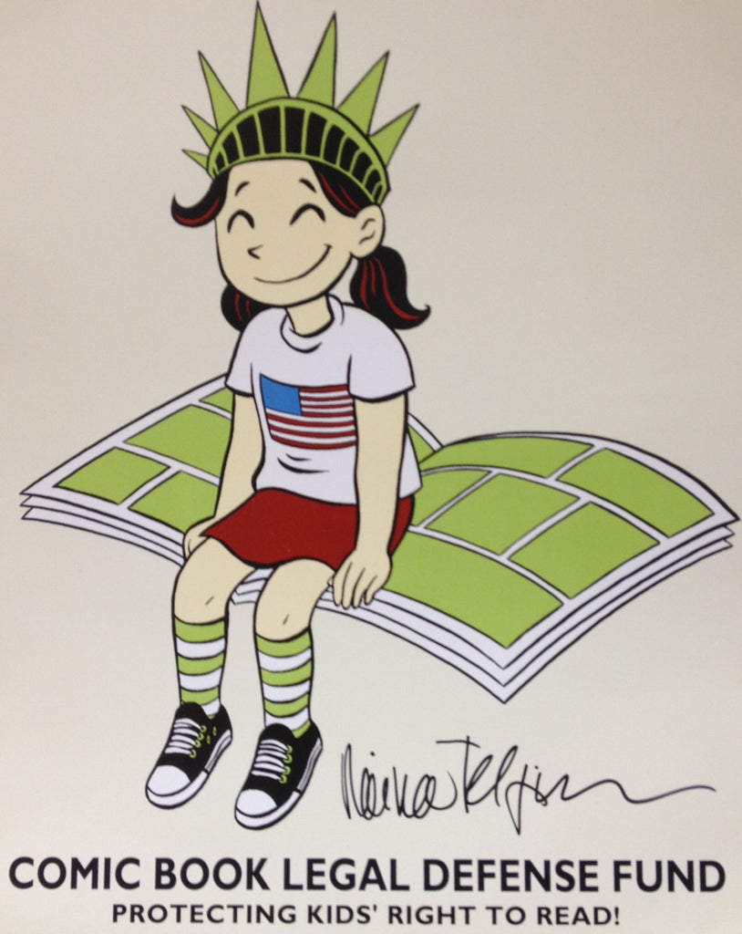 KID'S RIGHT TO READ print, signed by Raina Telgemeier