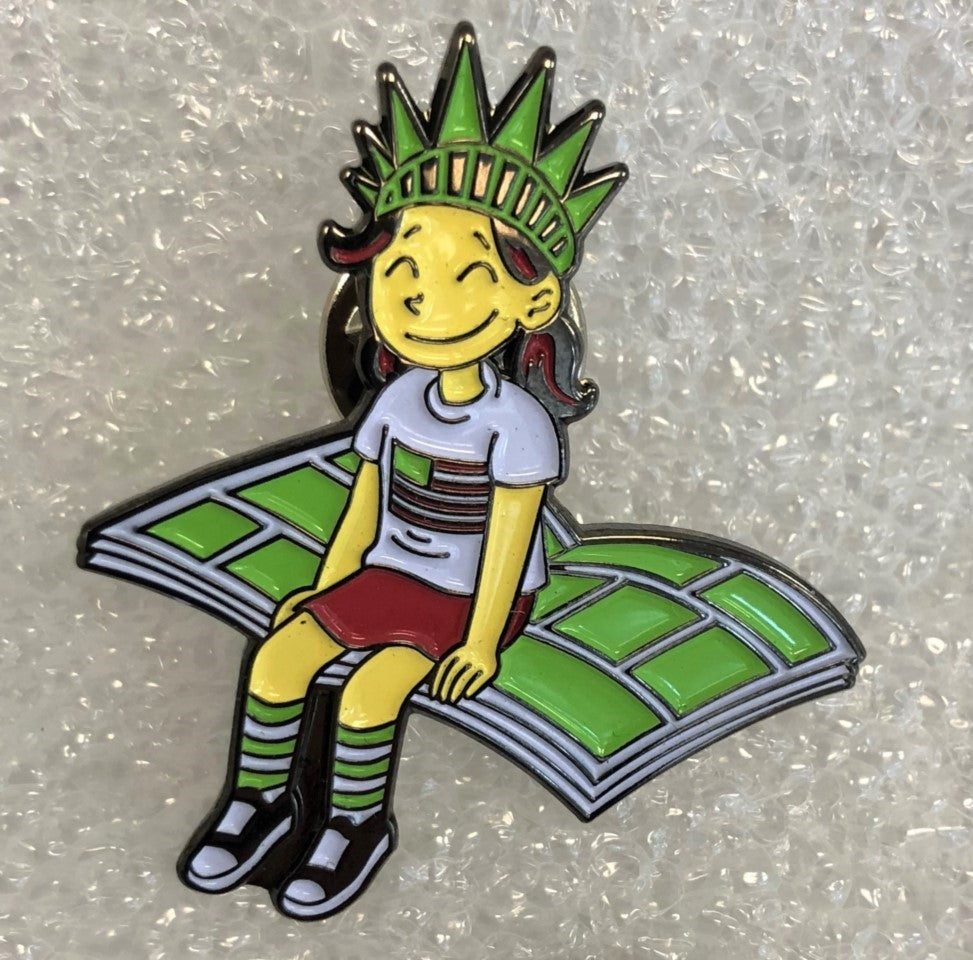 Lil' Libby Enamel Pin, designed by Raina Telgemeier!