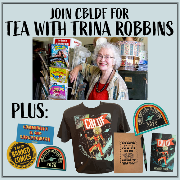 Join CBLDF for Tea with Trina Robbins!