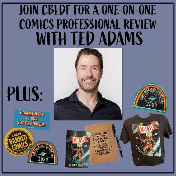 Join CBLDF for a Professional Development Review from Ted Adams!