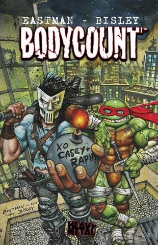 Teenage Mutant Ninja Turtles: Bodycount HC, signed by Kevin Eastman!