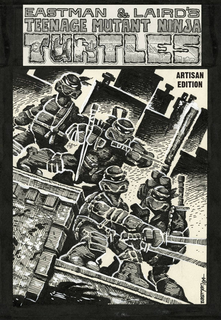 Teenage Mutant Ninja Turtles Artisan Edition HC, signed and sketched by Kevin Eastman!