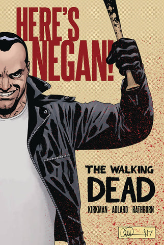 The Walking Dead: Here's Negan HC, Signed by Robert Kirkman!