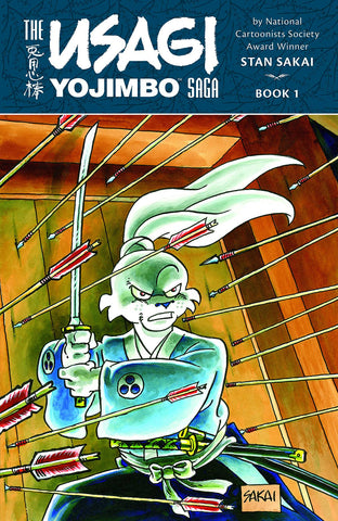Usagi Yojimbo Saga Vol 1 TP, signed & sketched by Stan Sakai!