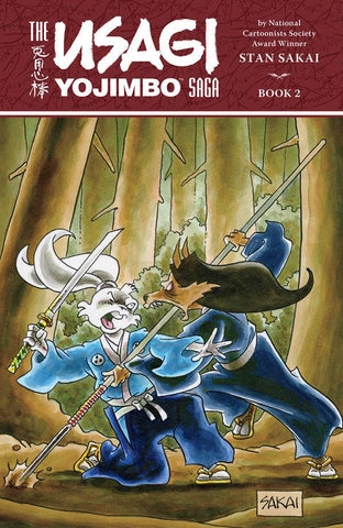 Usagi Yojimbo Saga Vol 2 TP, signed & sketched by Stan Sakai!