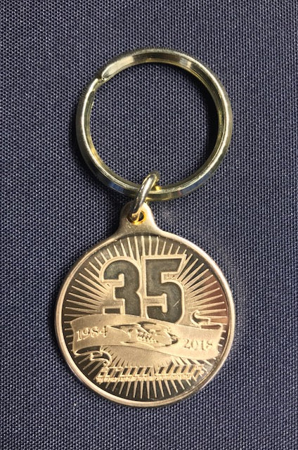 35th Anniversary Bronze Keychain