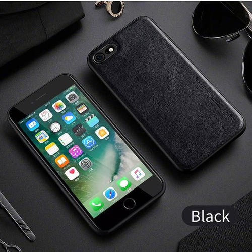 Leather Case For iPhone Leather iPhone Case LuxuryCaseCo. Black For iPhone 6 6s Retail package