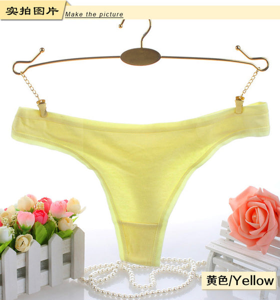 Hot Girls gifts Sexy Cotton Spandex Panties Gas Seamless Crotch G-string thong t pants Invisible Underwear Women sex Ladies Tops-lilogal