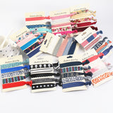 30pcs/lot Women printed lace flat stars hair ties Elastic Hair Bands Accessories Korean style-lilogal