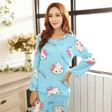 Pajamas woman Spring and autumn cartoon female long sleeved nihgtgown suit Long pants +long sleeve shirts Home Furnishing-lilogal