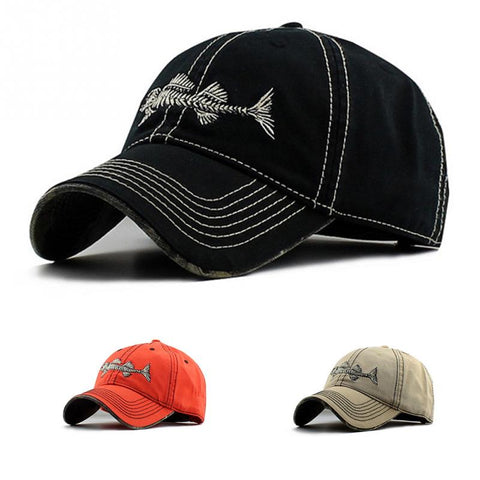 Multi Choices Baseball cap Mens Womens Boys fishbone embroidery Baseball Cap Adjustable Hats-lilogal