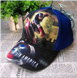 Spiderman & Captain america Children adjustable print Cotton Cap kids Boy Girl Hip Hop sun Hat cosplay accessary-lilogal